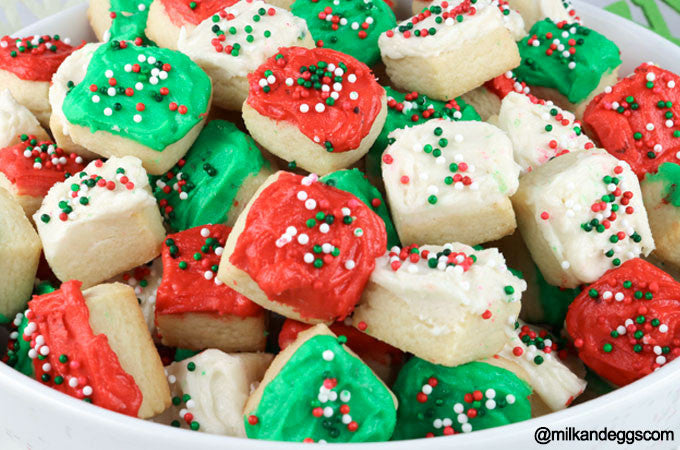Christmas Sugar Cookie Bites - Holiday Dessert Recipe