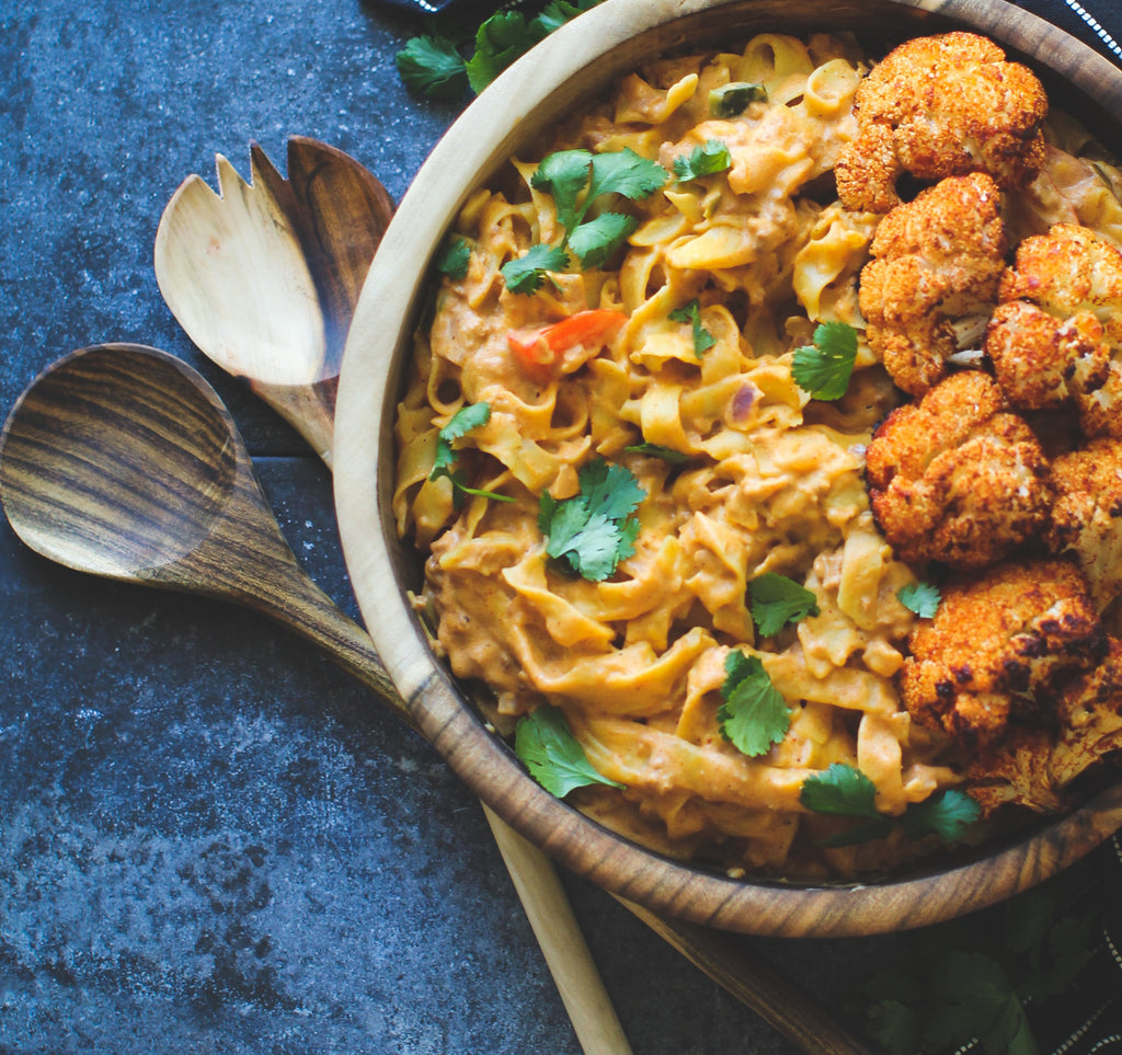 Cajun Chorizo Alfredo with Roasted Cauliflower
