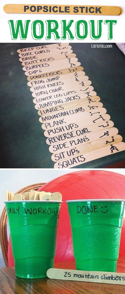 The Popsicle Stick Workout
