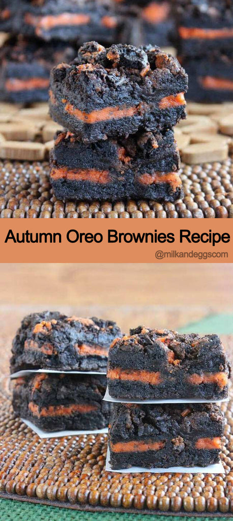 Autumn Oreo Brownies Fall/Halloween Recipe
