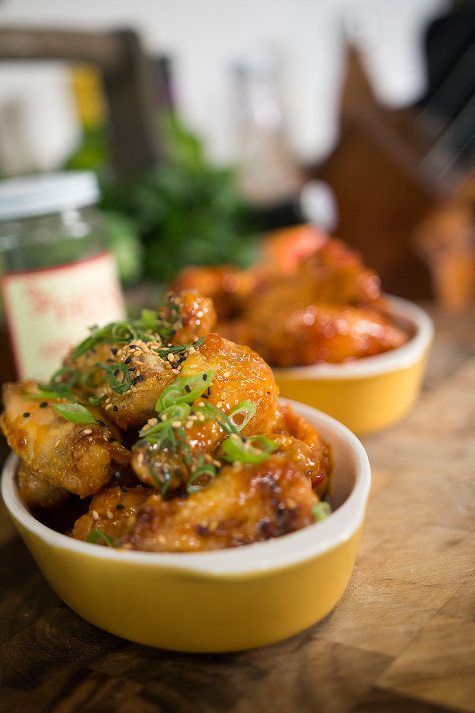 Sticky Thai & Spicy BBQ Baked Chicken Wings