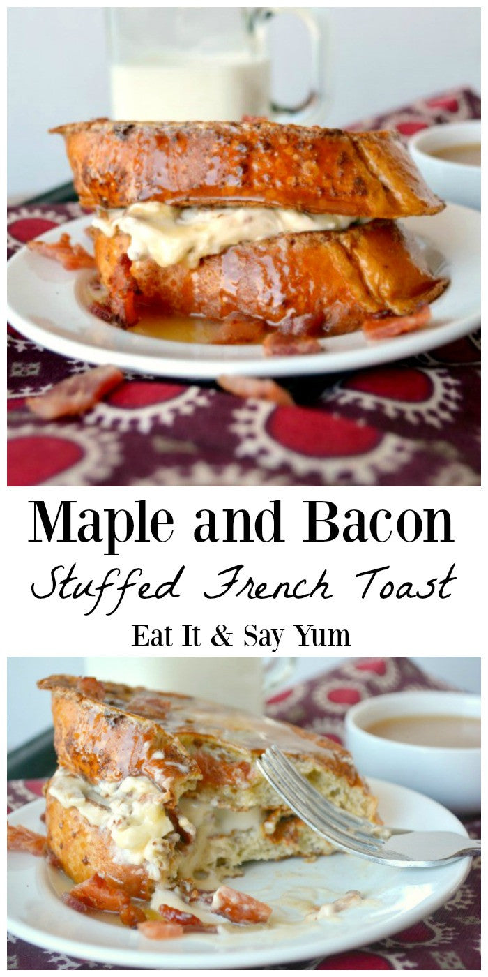 Maple Bacon Stuffed French Toast
