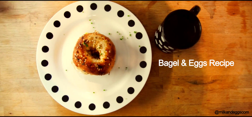 Bagel & Eggs Recipe - Simple Recipe! (Video)
