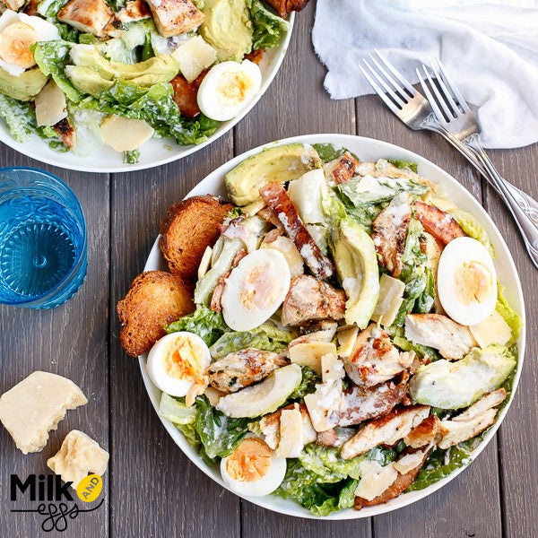 Skinny Chicken and Avocado Caesar Salad Recipe