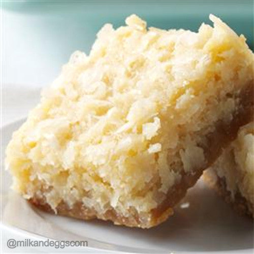 Buttery Coconut Bars Dessert Recipe