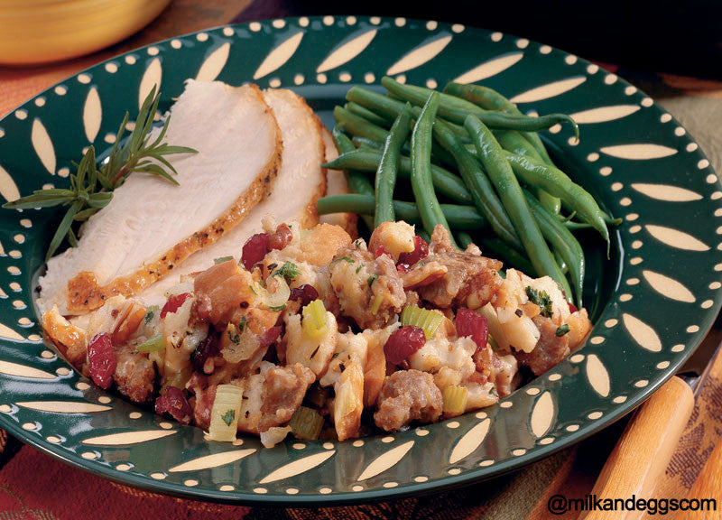 Sausage, Pecan and Cranberry Stuffing - Thanksgiving Recipe
