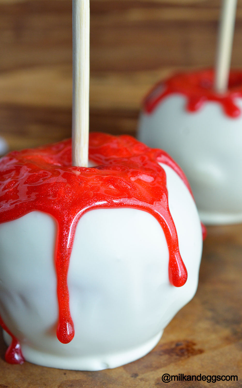 Bloody White Chocolate Apples - Halloween Dessert Recipe
