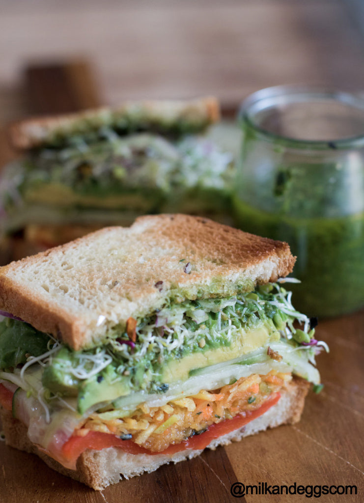 Vegan Jalapeno Pesto Sandwich Recipe