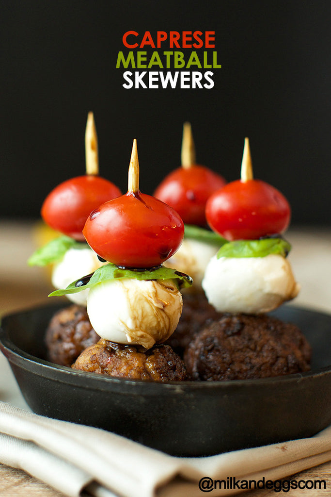 Caprese Meatball Skewers Recipe