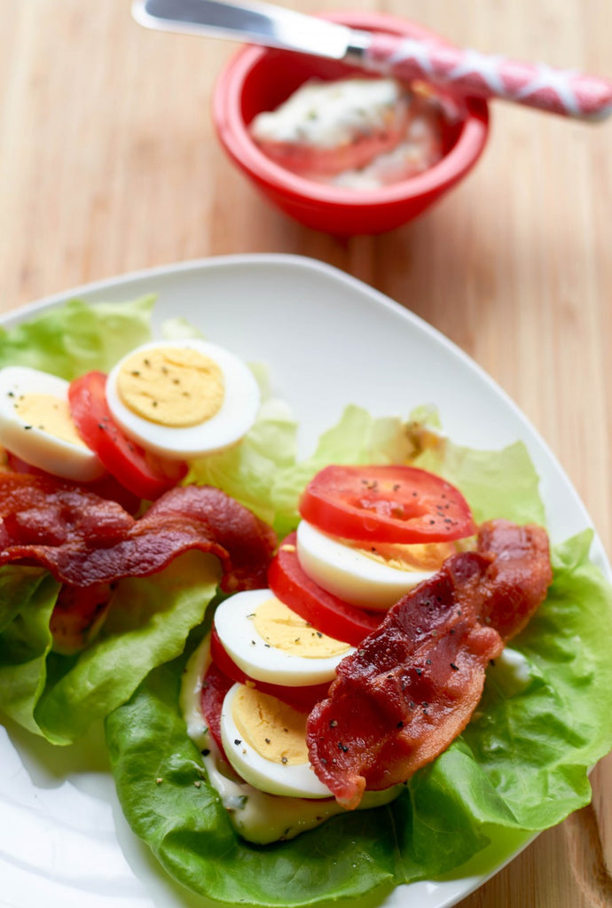 Low Carb BLT Wraps for the Perfect Healthy Snack!