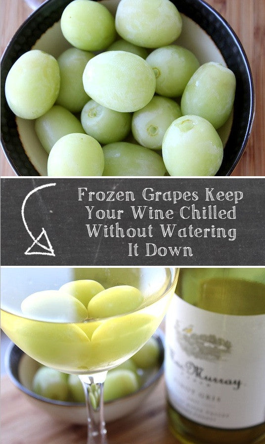 Cool Your Dinks WIth Frozen Grapes