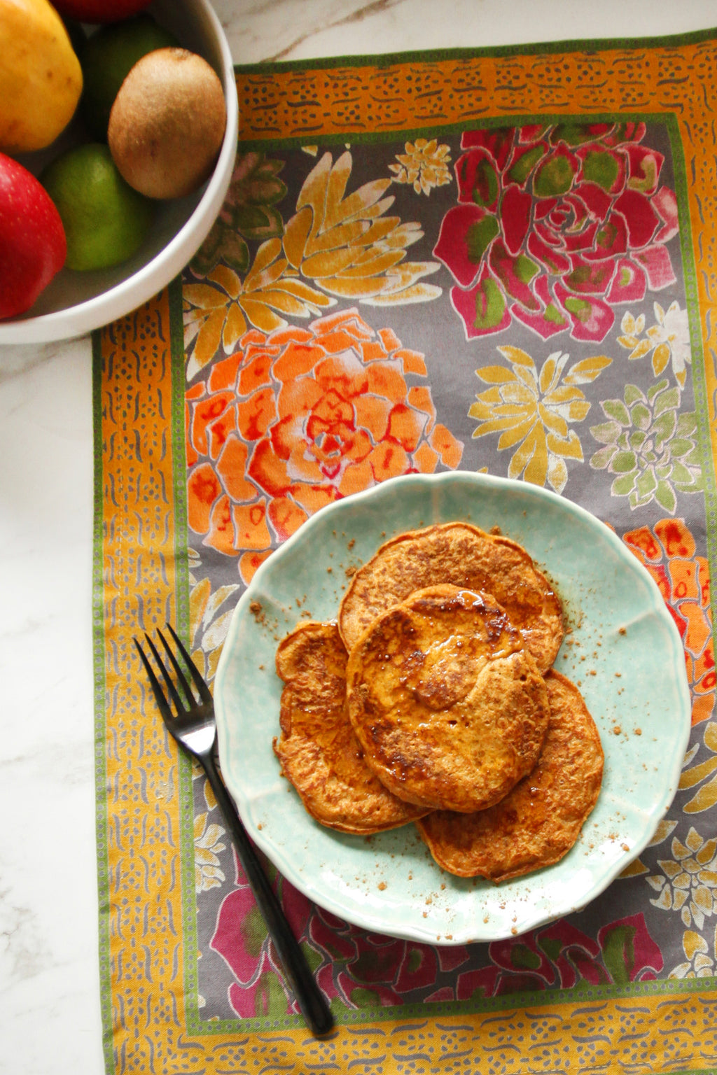CINNAMON SWEET POTATO PANCAKES