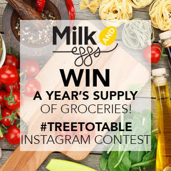 A Year Supply of Groceries! - Contest to Win a $500 gift card for groceries at Milk & Eggs!