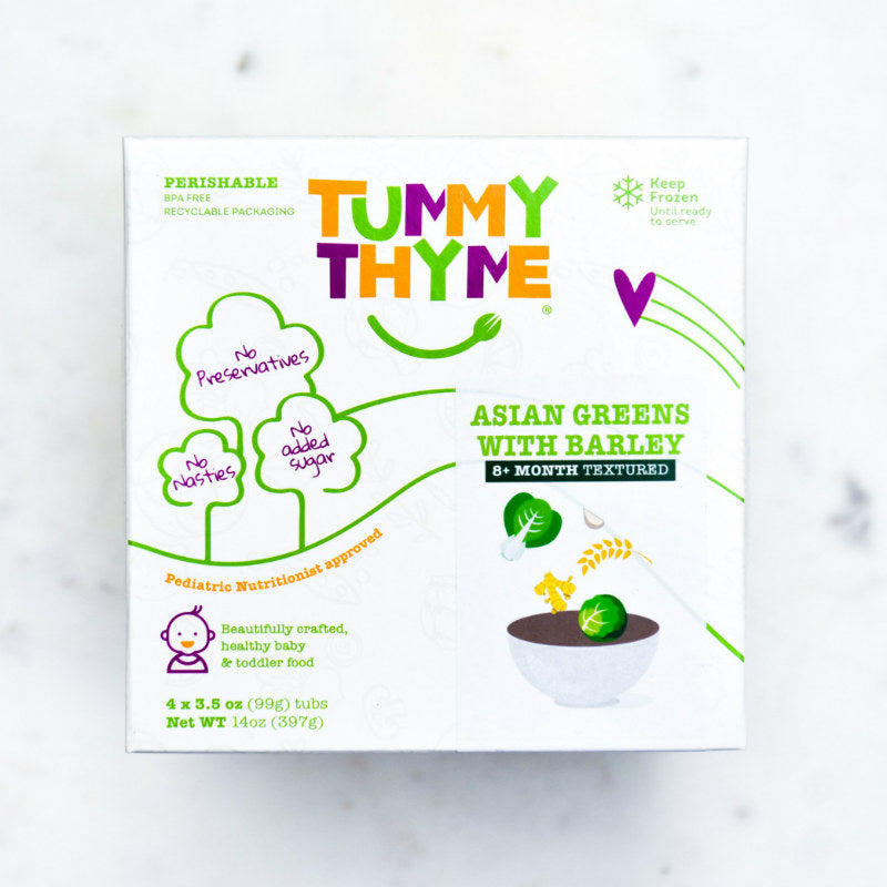 Tummy Thyme Baby Food Asian Greens w/ Barley