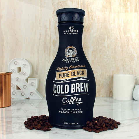Califia Farms Cold Brew Pure Black Lightly Sweetened 48oz