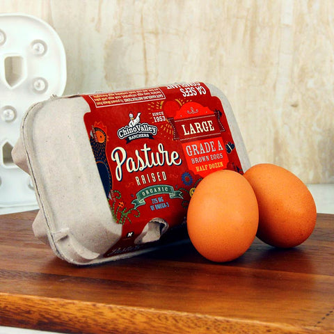 Chino Valley Organic Pasture Raised Eggs Half Dozen