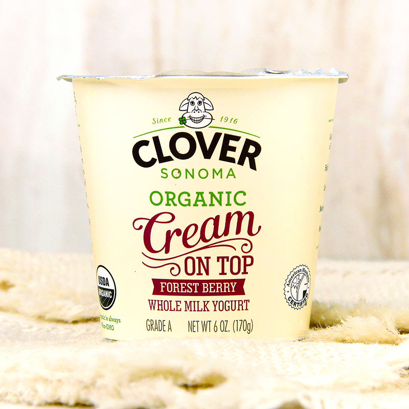 Clover Organic Cream On Top Yogurt Whole Forest Berry