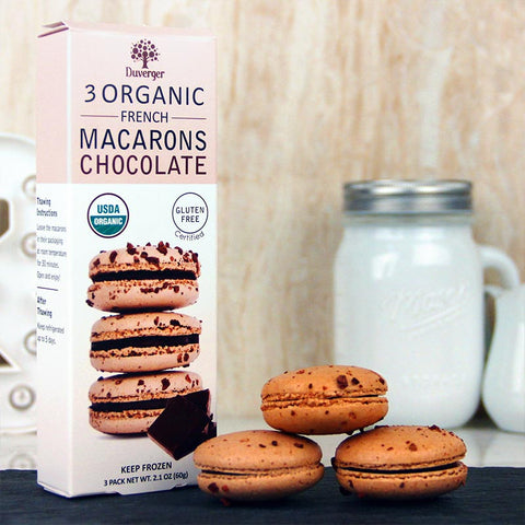 Duverger Macarons Organic Chocolate 3 pack