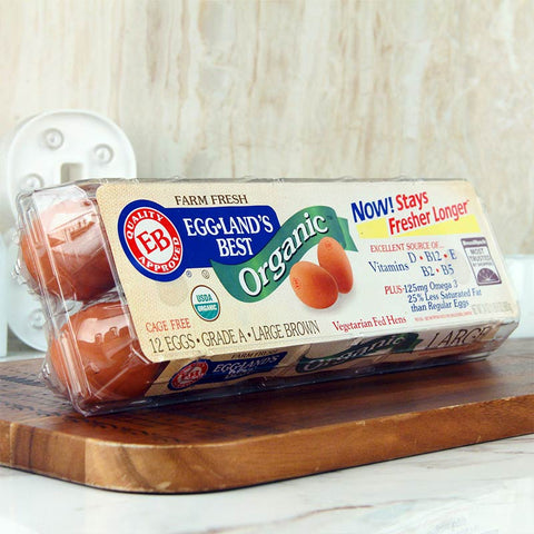 Eggland's Best Large Brown Organic Eggs Dozen
