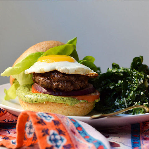 FittyBritttty Burger + Kale Salad @fittybritttty (Serves 4) #44