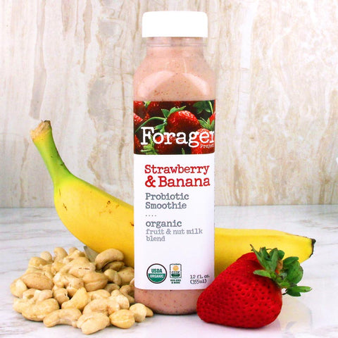 Forager Strawberry & Banana Probiotic Smoothie 12oz