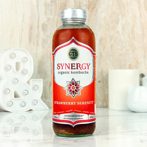 GT'S Synergy Kombucha Organic Strawberry Serenity