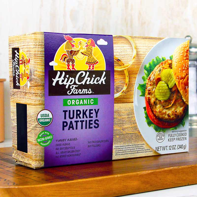 Hip Chick Farms Organic Turkey Patties