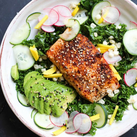 Grilled Honey Salmon Bowl #28