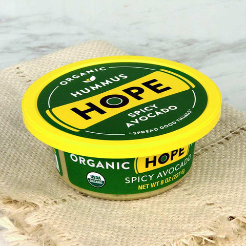Hope Foods Organic Hummus Spicy Avocado