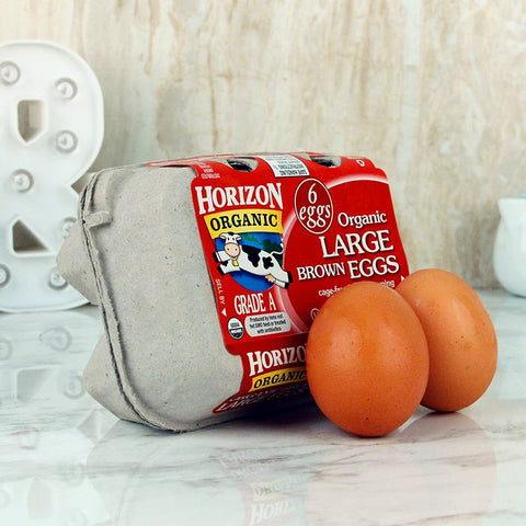 Horizon Organic Large Brown Half Dozen Eggs