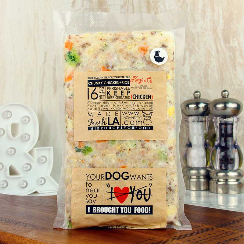 Kazi co dog food chunky chicken rice milk and eggs kazi co dog food chunky chicken rice forumfinder Image collections