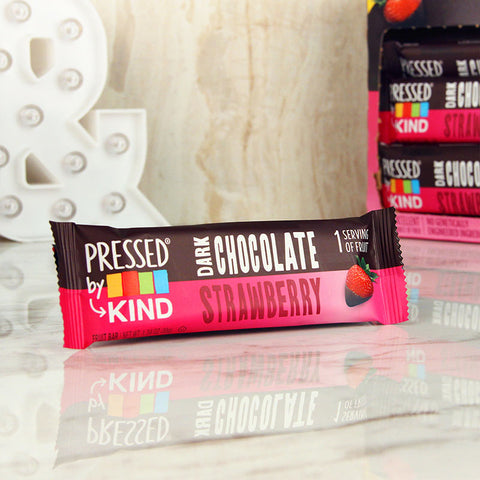 Kind Pressed Dark Chocolate Strawberry Bar