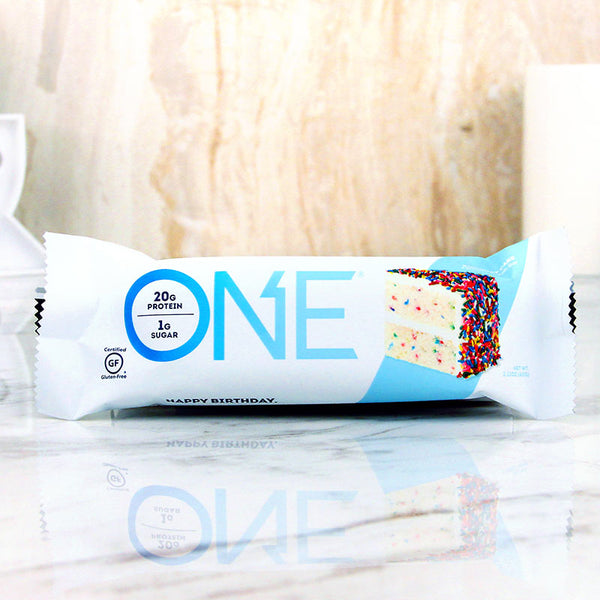 ONE Protein Bar Birthday Cake Milk And Eggs