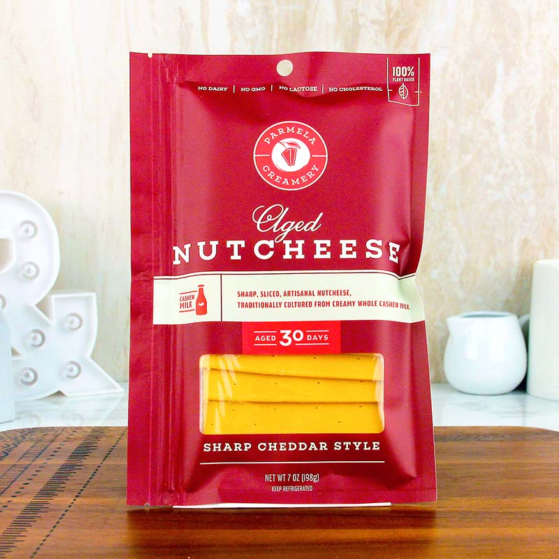 Parmela Creamery Nutcheese Sharp Cheddar Slices