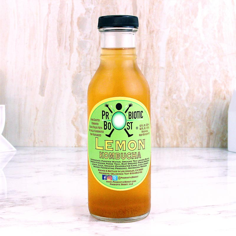 Probiotic Boost Kombucha Lemon