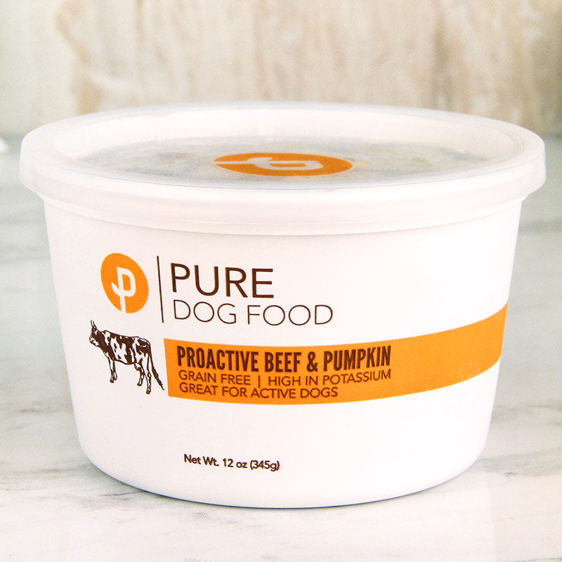 PURE Dog Food Proactive Beef & Pumpkin