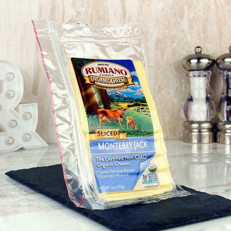Rumiano Sliced Organic Monterey Jack Cheese