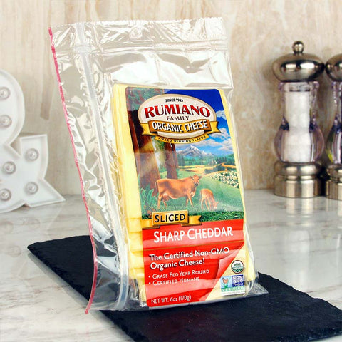 Rumiano Sliced Organic Sharp Cheddar Cheese