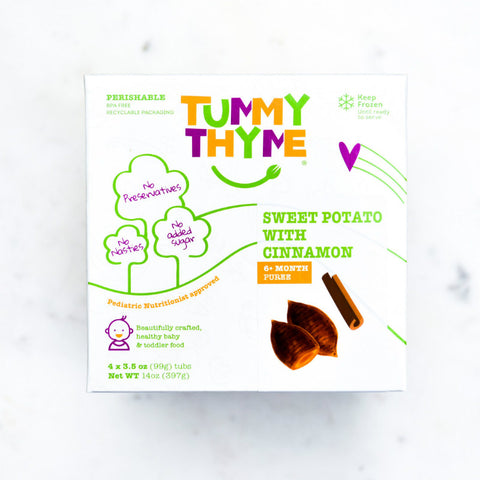 Tummy Thyme Baby Food Sweet Potato w/ Cinnamon