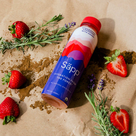 Sapp Birch Water Strawberry Lavender 12 oz