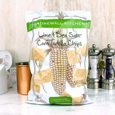 Stonewall Kitchen Corn Tortilla Chips Lime & Sea Salt