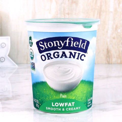 Stonyfield Organic Smooth & Creamy Yogurt Lowfat Plain 32 oz