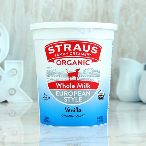 Straus Organic Yogurt Whole Vanilla