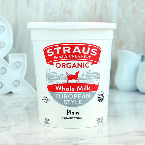 Straus Organic Yogurt Whole Plain