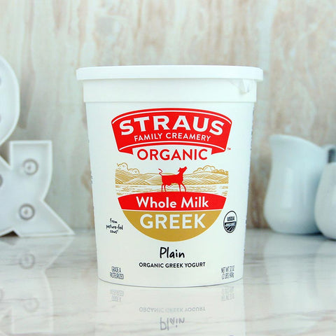 Straus Organic Greek Yogurt Whole Plain
