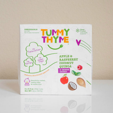 Tummy Thyme Baby Food Apple & Raspberry Quinoa