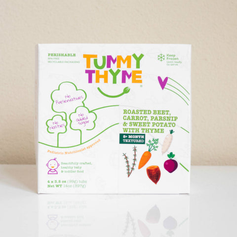 Tummy Thyme Baby Food Roasted Beet & Sweet Potato w/ Thyme