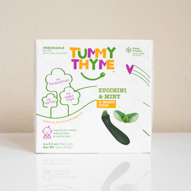 Tummy Thyme Baby Food Zucchini & Mint