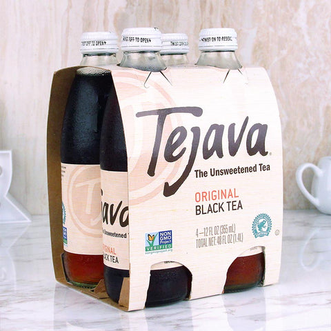 Tejava Unsweetened Black Tea 4 pk