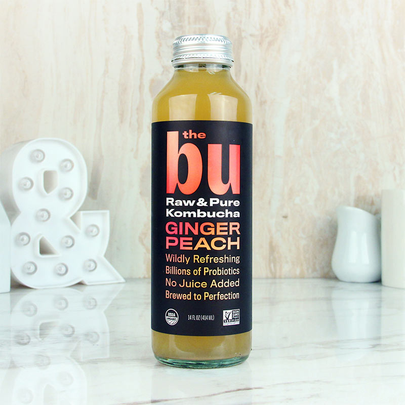 The Bu Kombucha Ginger Peach